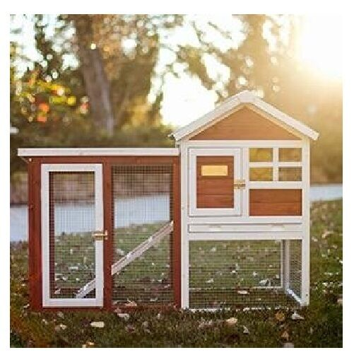 Large Rabbit Hutch Raised Outdoor Wood Pet Bunny Cage House White Enclosure Run For Sale Online Ebay