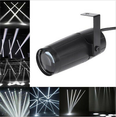 White Beam Pinspot Stage Light Spotlight Lamp Mirror Balls DJ Disco Party Light (Mirror Ball Light)