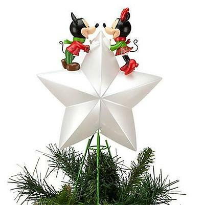 DISNEY MICKEY AND MINNIE 2012 LIGHT UP CHRISTMAS TREE TOPPER-NEW