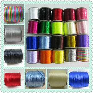70M-Roll-Color-Satin-Rattail-Nylon-Chinese-Knotting-Jewelry-Cord-Threads-1mm-NF3