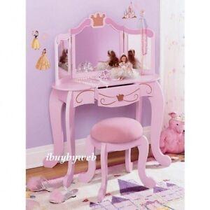 Kidkraft 76125 Girls Kids Pink Princess Diva Vanity Table