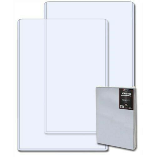 Pack /10 BCW 13x19 Hard Plastic Topload Photo / Print Holders 13 x 19 toploaders