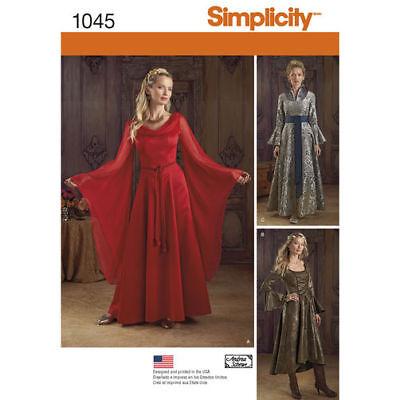 S 1045 Game of Thrones Melisandre medieval dress gown costume pattern 14-20 - Game Of Thrones Melisandre Costume