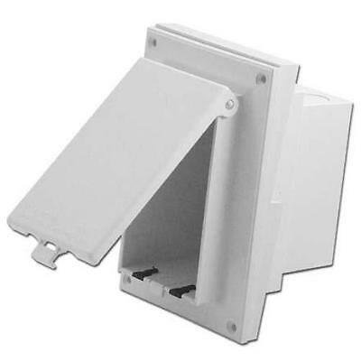 Arlington Dbvr141w Weatherproof In Box Siding Profile Adapter Plate White