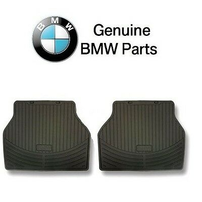 - For BMW E83 X3 Rear Floor Mat Set All Weather Rubber Black Genuine 82110305176