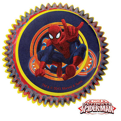 NEW SPIDEMAN MARVEL SUPERHERO BOYS BAKING CUPS CUPCAKE LINERS BIRTHDAY PARTY - Superhero Cupcake Liners