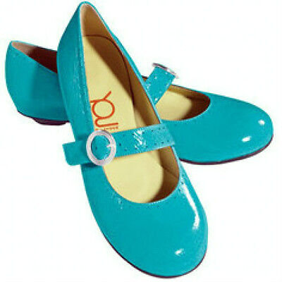 Crocs You by Crocs MJ flats turquoise leather sz 7 Med NEW