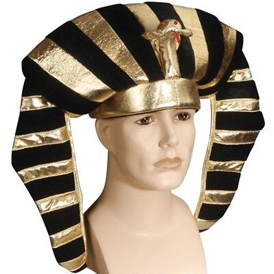 EGYPTIAN HEADPIECE HAT Snake Cleopatra King Tut Pharaoh Adult Queen Cloth Gold