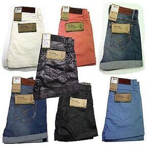 Ladies-Womens-Firetrap-Sally-Denim-Hotpants-Shorts-6-7-8-9-10-11-12-13-14