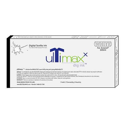 Ultimaxx Dtg Inks For Anajetmelcojet 1 White Ink - 220ml