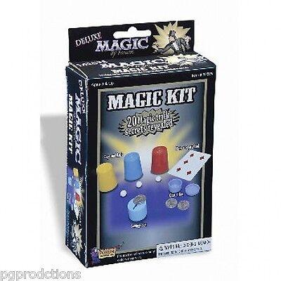 BEGINNER MAGIC KIT Set Magician 20 Tricks Coin Quarter Box Cups & Balls Card #1