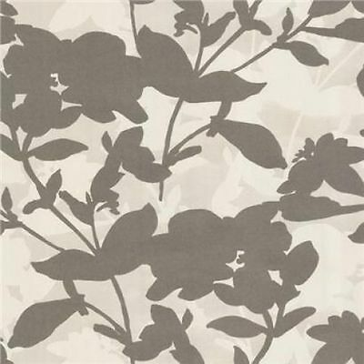 Eijffinger Club Floral Trail Shadow Flock Classic Feature Wallpaper Brown - Brown Floral Trail Wallpaper