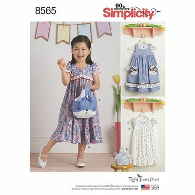 Simplicity Pattern 8565 Child's Dresses and Purses from Ruby Jean's Closet Denim Purse Patterns