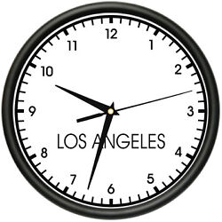 LOS ANGELES TIME Wall Clock world time zone clock office business