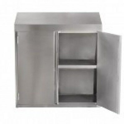 15x36 Stainless Steel Commercial Wall Mount Storage Cabinet With Hinged Doors