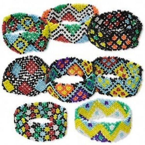 Wholesale Lot 6 Multicolored Glass Seed Bead Bracelets