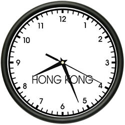 HONG KONG TIME Wall Clock world time zone clock office business