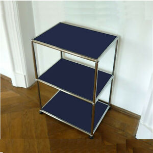 orig usm haller regal 70x50x35 highboard hifi m bel stahlblau blau ebay. Black Bedroom Furniture Sets. Home Design Ideas