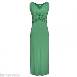 New-Kaliko-Green-Jersey-V-Twist-Front-Jersey-Maxi-Dress-Sz-14-20-rrp-75