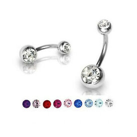 Brand New Wholesale Bulk lot 304pcs Belly Bars CZ Cubic Zirconia