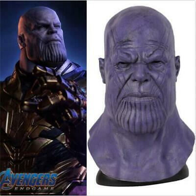 Avengers: Endgame Thanos Upgrades Cosplay Mask Props Latex Full Face Helmet ](Full Latex Mask)