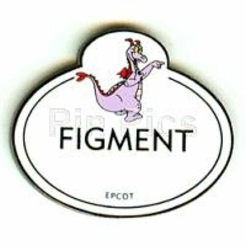 OLD RARE Disney pin Cast Member Name Tag Figment Epcot Location Replica SOLD OUT