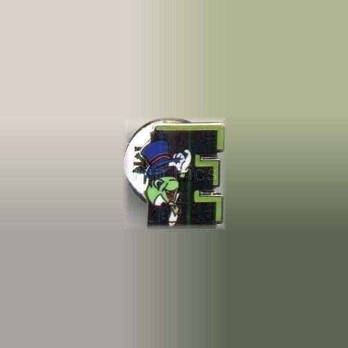 Jiminy Cricket Disney Pin LE Cast Manager Silver Letter E Environmentality Award