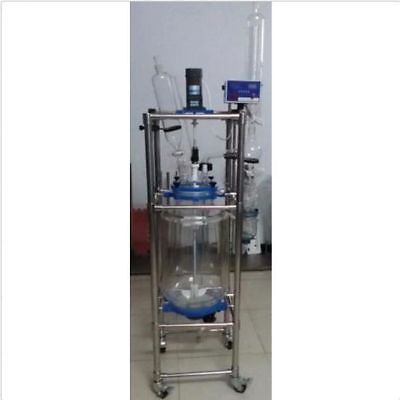 10l Explosion Proof Motor Jacket Chemical Reactor Glass Reaction Vessel 220v U
