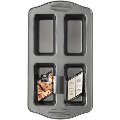 4 Cavity WILTON Excelle Elite® Mini Loaf HEAVY Duty 2105-444 Sturdy Excelle Elite Mini