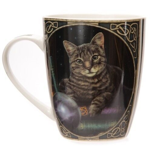Fantasy Tasse Wahrsager Katze Kaffebecher Zauberer Zauberei Hexe Magie Becher