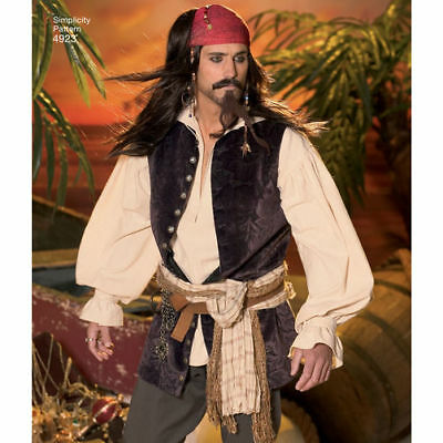 S4923 Sewing Pattern Men Costume Pirates of the Caribbean Jack Sparrow Will