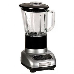 KitchenAid KSB565CU 5 Speed Blender 48 oz Glass Jar Silver 0 9 Horsepower Power 883049198156 | eBay