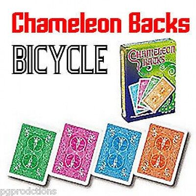 CHAMELEON BACKS BICYCLE PLAYING CARDS Magic Trick Close Up Packet Color Change