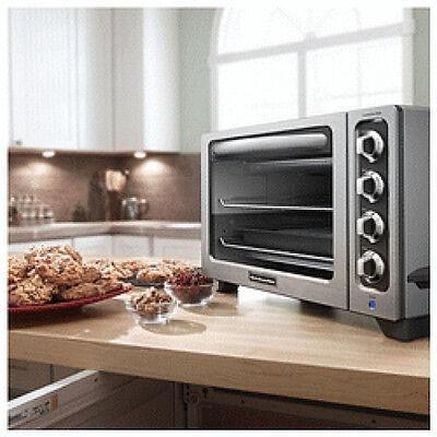 "KitchenAid STEEL 12"" Convection Countertop Toaster Oven MODEL KC0223CU Refurb"