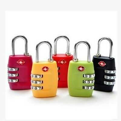 4 Color TSA Luggage Security Suitcase Bag Travel Lock 3 Dial Combination Padlock
