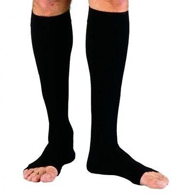 JOBST for Men Compression Socks Knee High Open Toe, 20-30mmH
