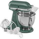 New KitchenAid Stand Mixer tilt 5-Quart ksm150psbl Artisan Green Bay Leaf