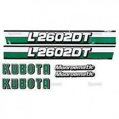 New Kubota L2602dt Decal Set