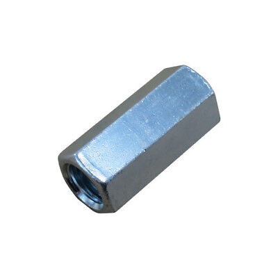 14-20 Zinc Plated Threaded Rod Couplings Pack Of 12