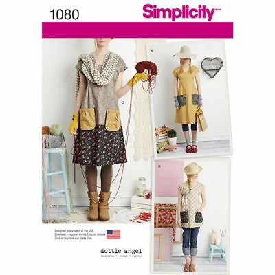Simplicity 1080/0902 Misses Dress or Tunic Pattern  Sizes XS - XL  Dottie Angel