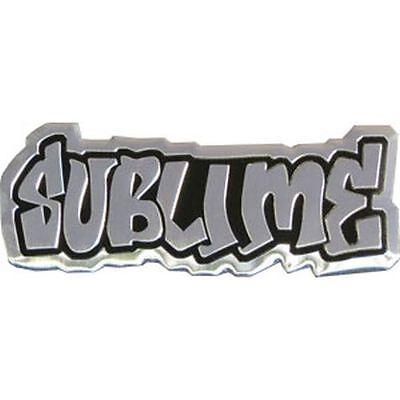 SUBLIME LOGO - METAL STICKER 3.5 x 1.5 - BRAND NEW - CAR DECAL 7758