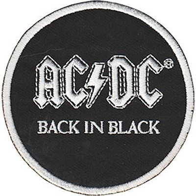 AC/DC - BACK IN BLACK - EMBROIDERED PATCH - BRAND NEW - MUSIC BAND 4527