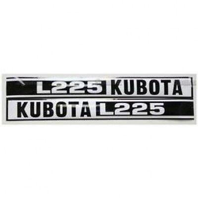 New Kubota L225 Blackwhite Decal Set