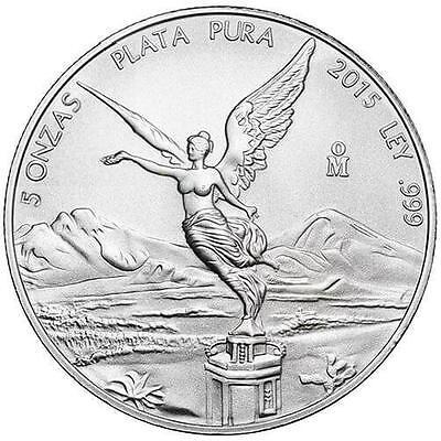 2015 5 oz Mexican Silver Libertad Coin (BU)