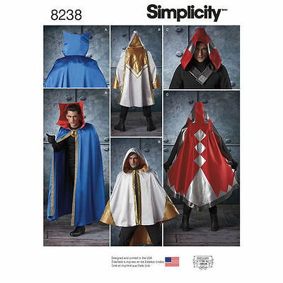 SIMPLICITY 8238 Doctor Strange or Fantasy Cosplay Capes Costume Sewing Pattern