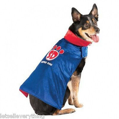 NEW SUPERDOG SUPER HERO SUPERMAN PET DOG HALLOWEEN COSTUME size S - Super Dog Halloween Costume