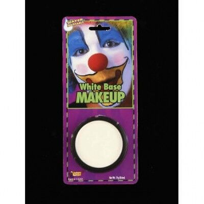 WHITE GREASE PAINT MAKEUP Face Base Mime Costume Halloween Clown Washable Stage - White Clown Paint