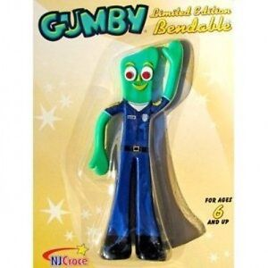 Policeman-Cop-Gumby-6-Bendy-Figure-New-in-Package