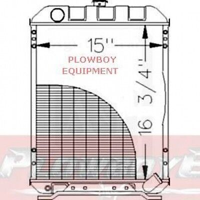 M804383 Radiator 1070 970 15 W 16.75 High 4 Row For John Deere Compact Tractor