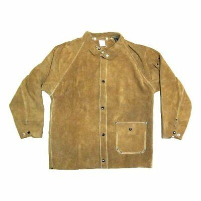 Large Brown Leather Welding Jacket